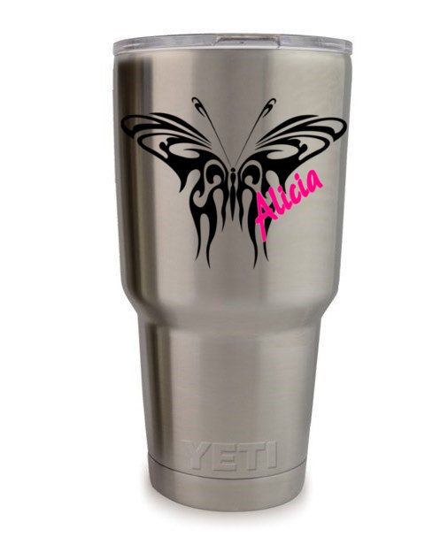 Decal for yeti 20 0z tumbler decal vinyl decal for yeti ozark trail decal vinyl decals rtic decal name decal name decal for cups