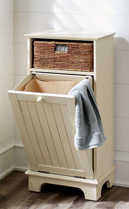 Diy Tilt Out Laundry Hamper In 2020 Diy Laundry Basket Tilt Out