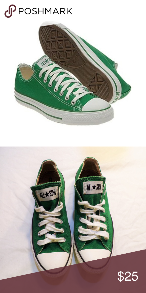 f5ee81b75f745 Converse Green Low Top Lace Up Sneaker Shoes Green. Lace up. GUC. Pet  Friendly + Smoke Free Home. Women's Size 10. Converse Shoes Sneakers