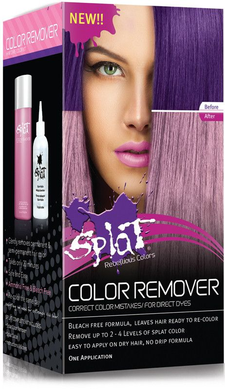 Splat Hair Color Remover Kit Hair Color Remover And Dark
