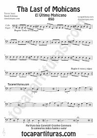 The Last of the Mohicans sheet music for Cello and Bassoon