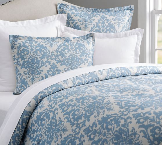 Riviera Home Collection Piumoni.Jacquard Medallion Cotton Blend Duvet Cover Shams Neutral In 2020 Duvet Cover Master Bedroom Medallion Duvet Blue Bedding