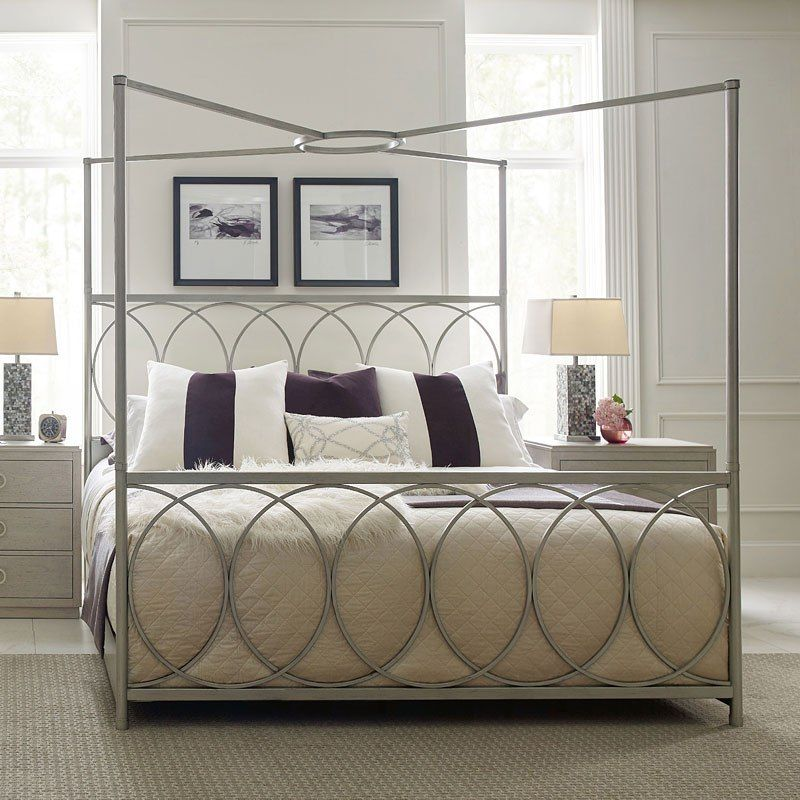 The Cinema Bedroom Collection By Rachael Ray Home By Legacy Classic Is An Elegant Grouping That Reflects The Love Of O Metal Canopy Bed Metal Canopy Canopy Bed
