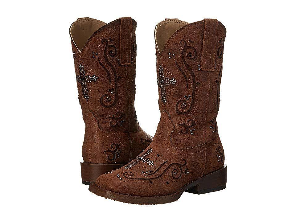 2574b687f65 Roper Kids Faith Crystal Cross (Toddler/Little Kid) (Brown) Cowboy ...