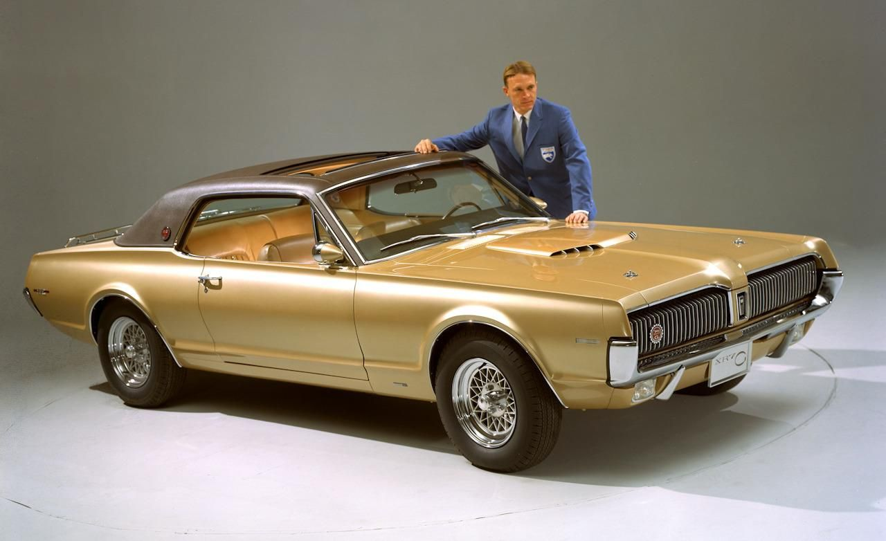 Dan Gurney Poses For A Photo With His Of Which Few Remain Today Mercury Cougar Q Greg I