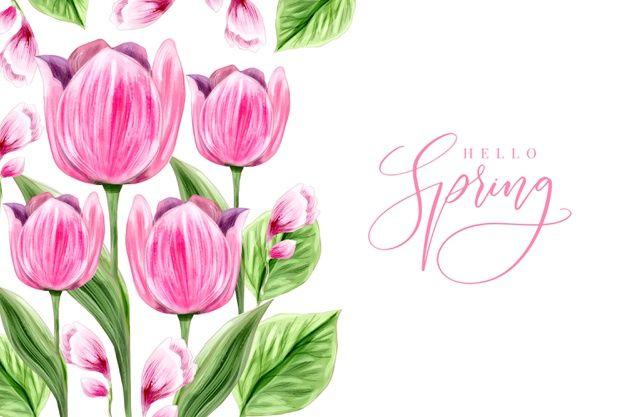 Photo of Scarica gratis Disegno Di Sfondo Primavera Dell acquerello