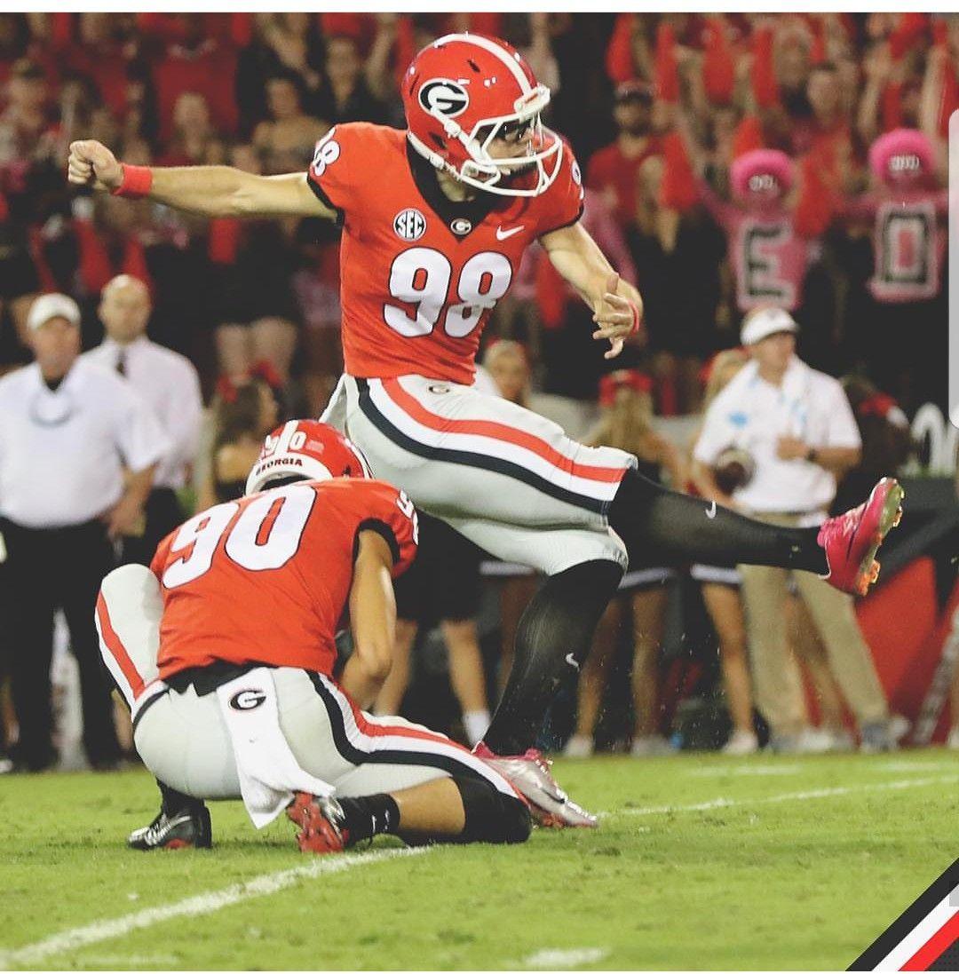 Rodrigo Blankenship Hit A 53 Yard Field Goal Georgia Bulldogs Football Georgia Bulldogs Bulldogs Football