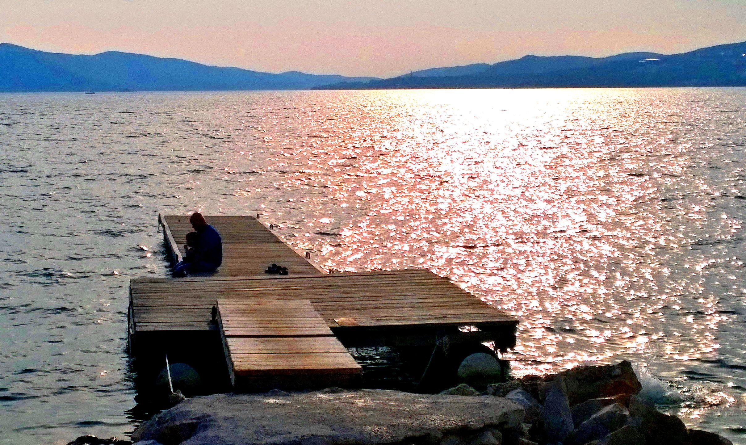 Around the corner from Trogir, Croatia.