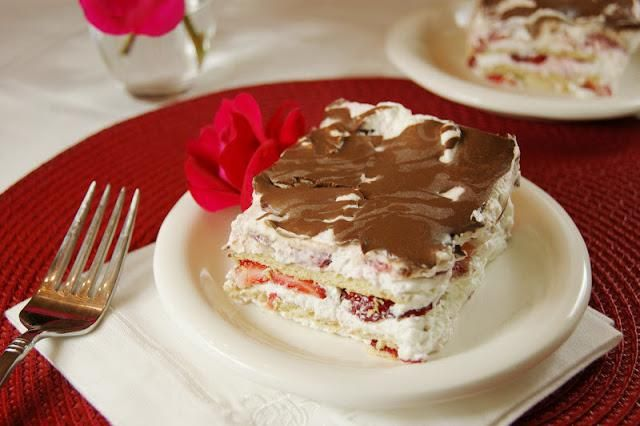 How To Make No-Bake Strawberry Ice Box Cake Desserts Recipe