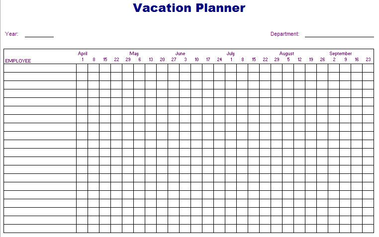 Employee Vacation Planner Template Excel Unique Employee Vacation Planner Excel Template Vacation Planner Vacation Planner Template Vacation Planning Template