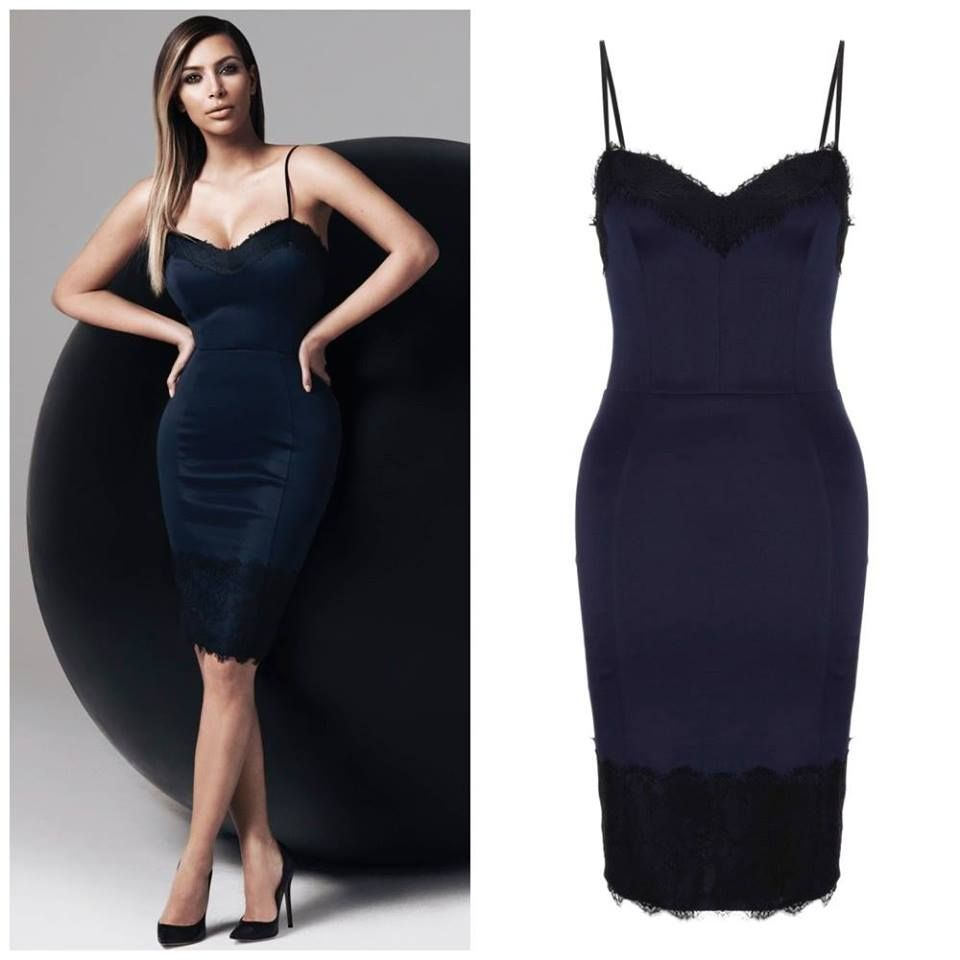 Now 10 little black dresses for - Kim Kardashian S Navy Lace Kardashian Collection Dress Completely Sold Out In The Uk But It S