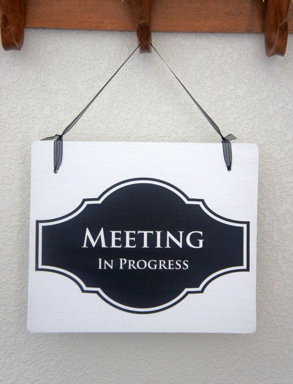 office door sign meeting in progress sign open sign 2 sided sign