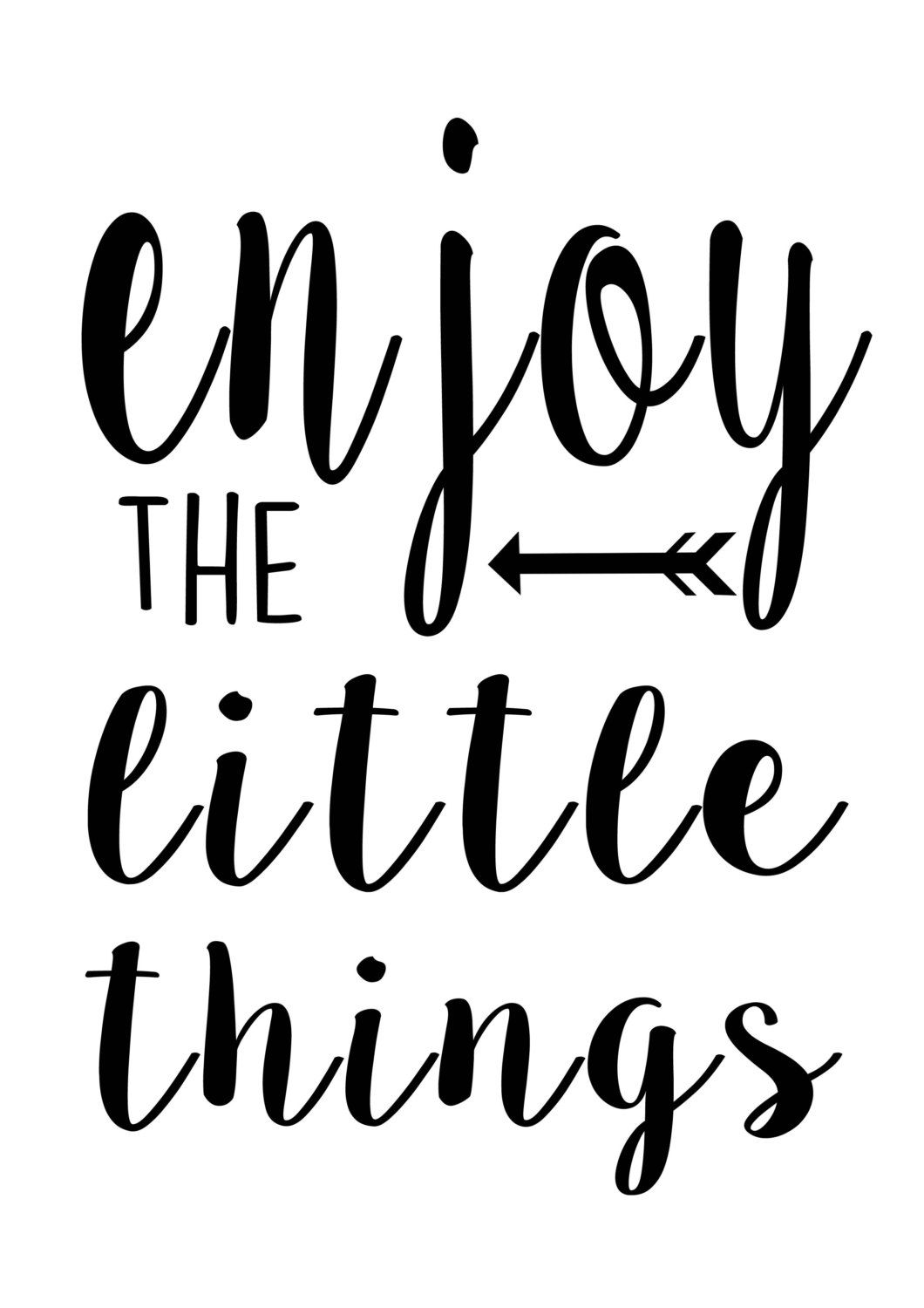 enjoy the little things printable black and by littleprintsstore