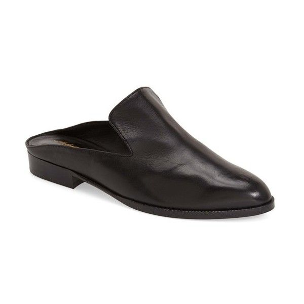 Robert Clergerie 'Alicek' Slide Loafer ($495) ❤ liked on Polyvore featuring shoes, loafers, black calfskin, black shoes, loafers & moccasins, robert clergerie, kohl shoes and black loafer shoes