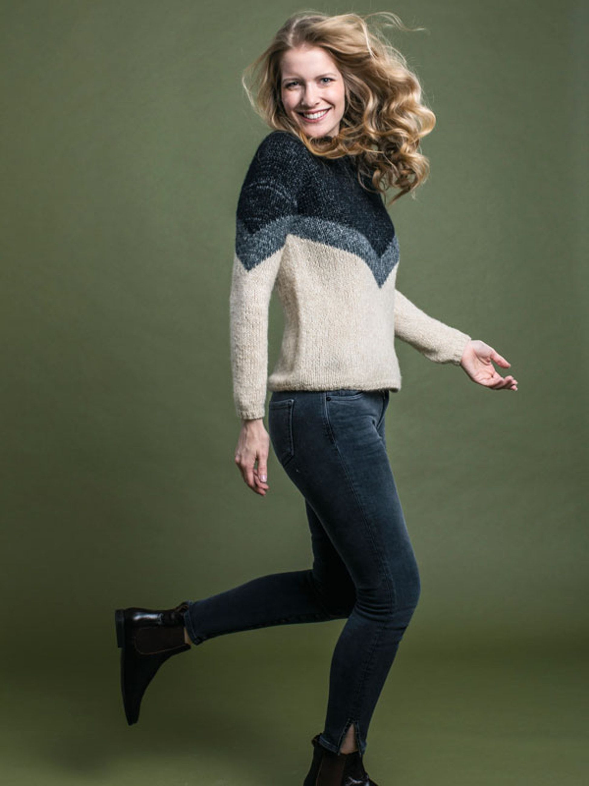 Strikkeopskrift: Sweater i gobelinstrik | Familie Journal #strikkeopskriftsweater