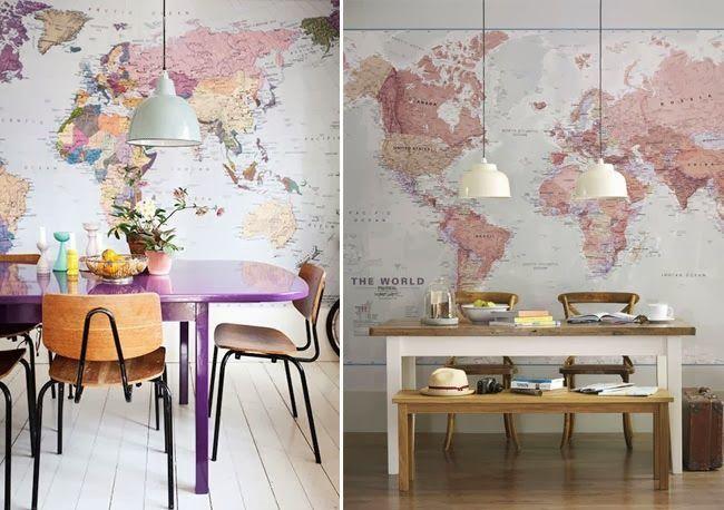 Decorar con mapamundis | Estilo Escandinavo