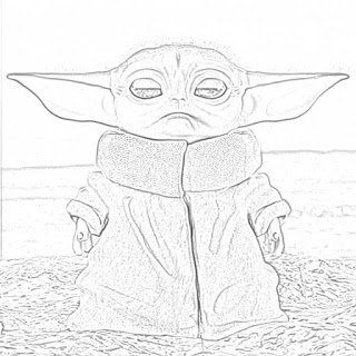 Coloring Pages Baby Yoda Coloring Pages Free and