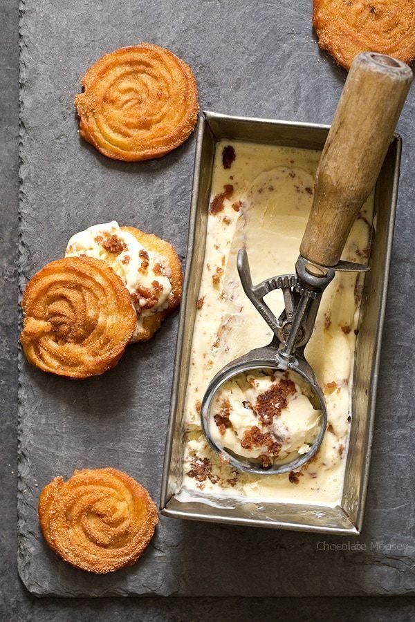 Churro Ice Cream Sandwiches - Homemade In The Kitchen