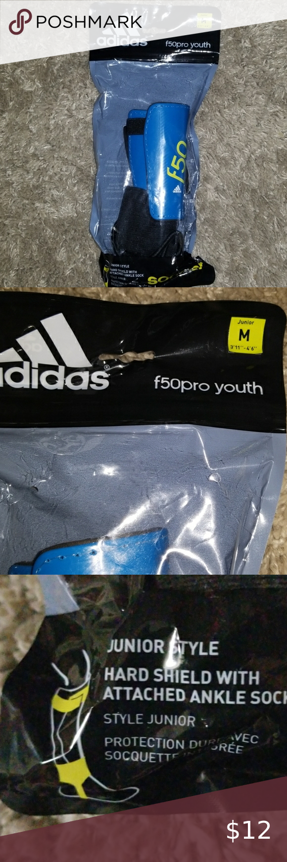 6 Add On Adidas Youth Shinguards In 2020 Youth Blue Adidas Shin Guards