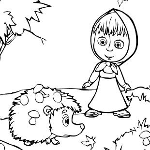 Top Masha And The Bear Coloring Pages Images Kids Pedia