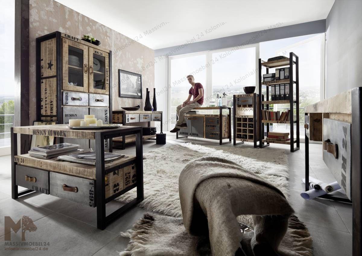 Holz Factory programm factory wohnzimmer ensemble die ungewöhnliche