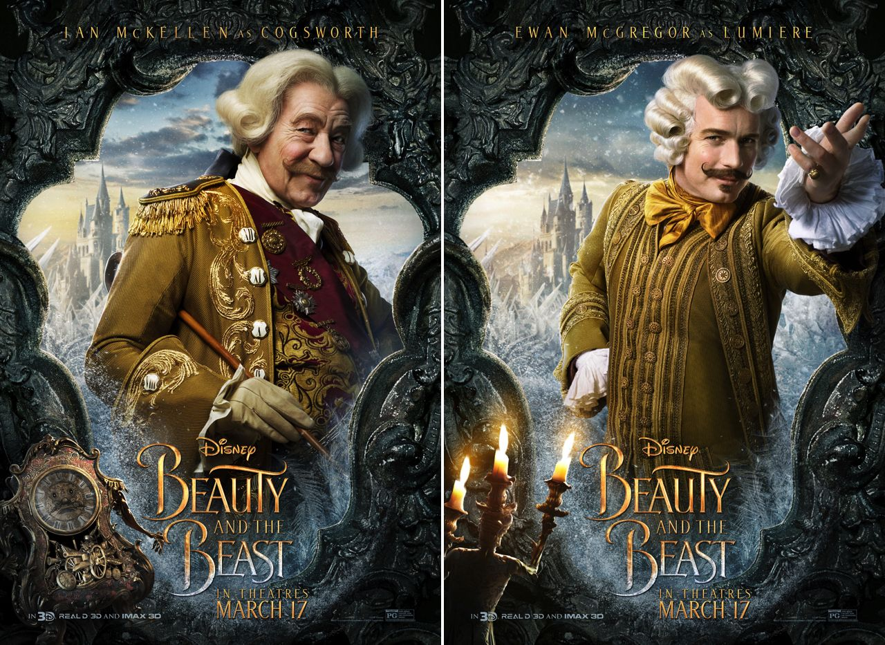 Beauty And The Beast Posters Highlight Lumiere Cogsworth Of Course