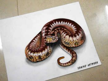 Realistic Drawing Of A Snake Chinese Drawings Realistic Pencil