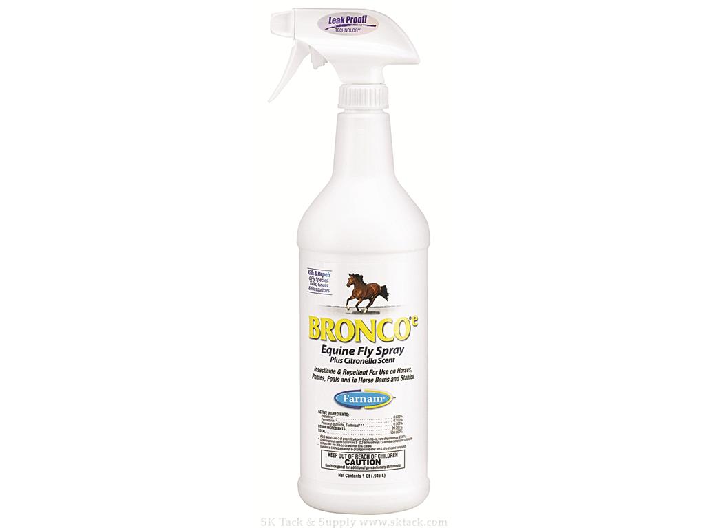 Bronco E Equine Fly Spray Plus Citronella Scent 1 Quart