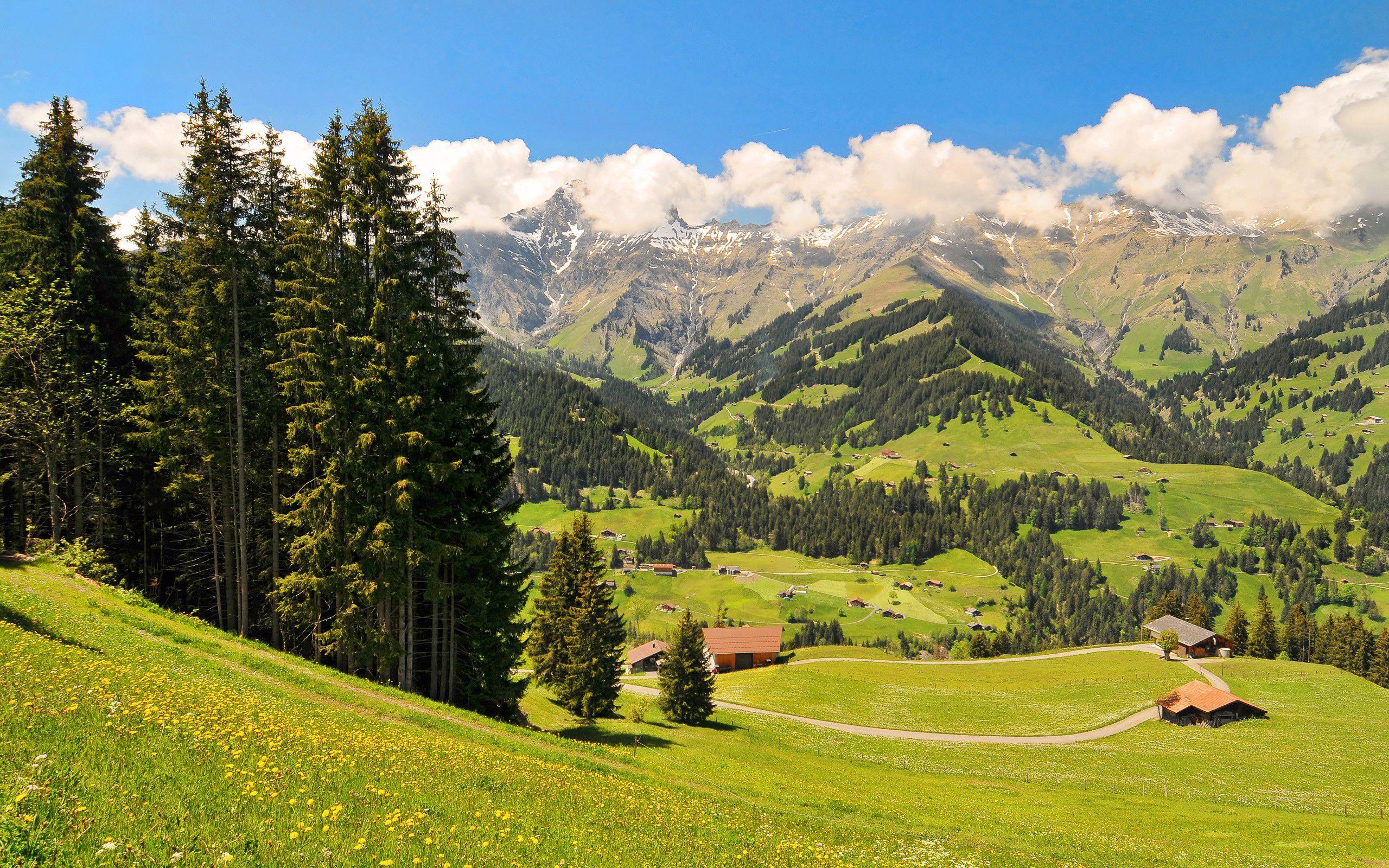 Обои дома, швейцария. Пейзажи foto 14