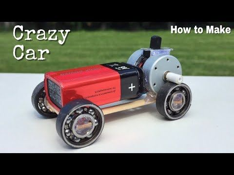 How To Make A Mini Car Using Bearings Powerful Electric Car With Double Engine Amazing Idea Youtube Diy Electric Toys Car Toy Cars For Kids
