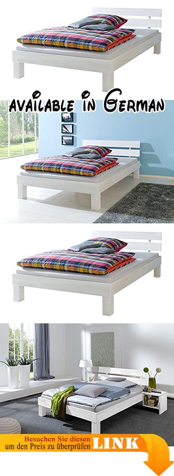 B01MXODTGV : Doppelbett Überlänge 140x220 Massivholzbett Buche weiß ...