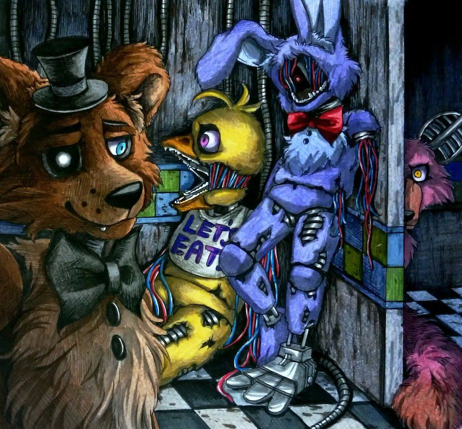 Fnaf 2 Drawings out of service / withereds fnaf 2mizuki-t-a.deviantart