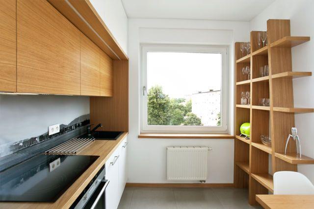 Repisas de madera para pared modernas para la cocina diseños