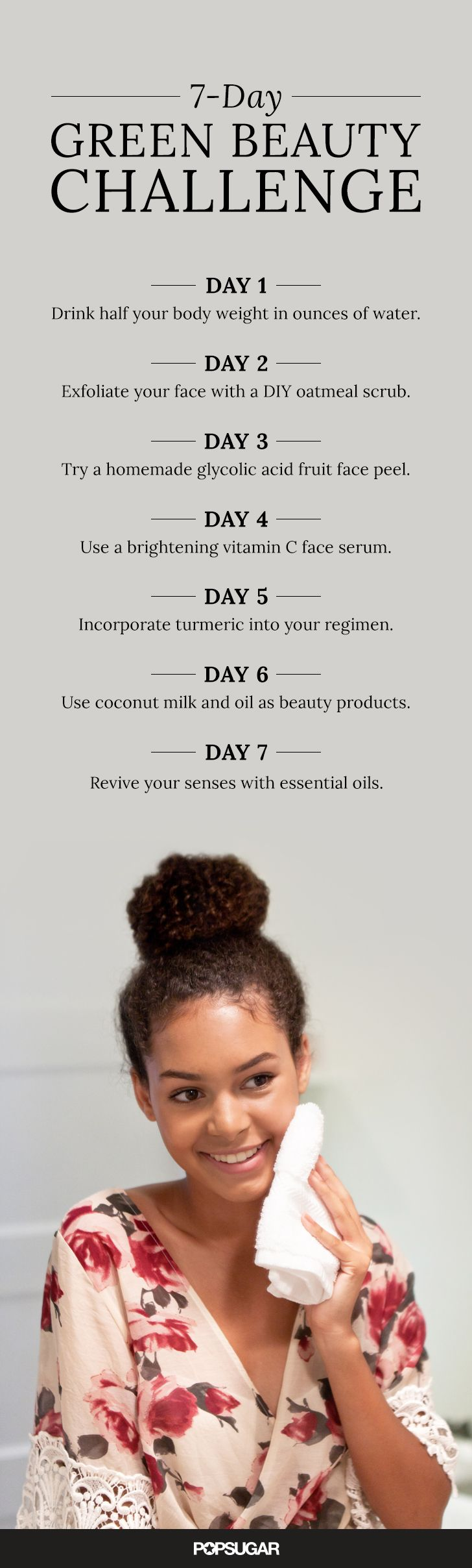 This 11-Day Green Beauty Challenge Will Make Your Skin Glow  Green