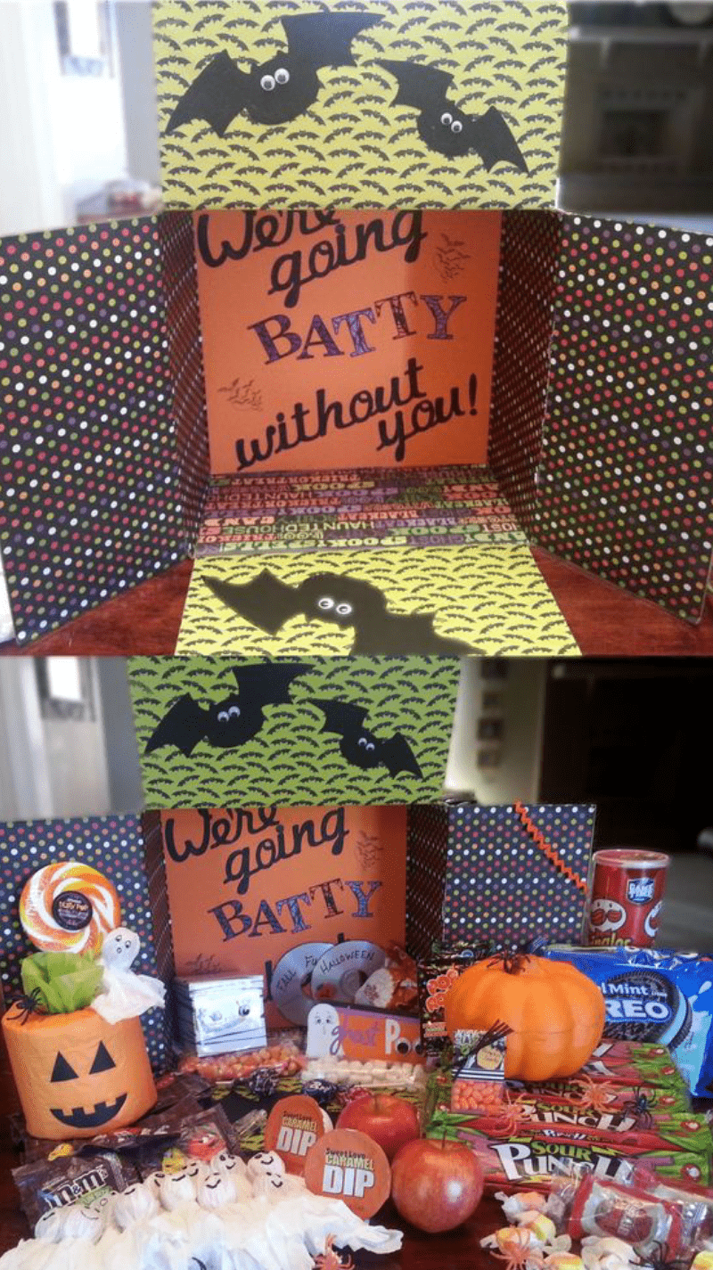 35 Totally Spooktacular Halloween Care Package Ideas for College Students #spookybasketideas