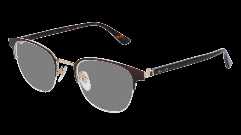 6396f97e9bf Gucci - GG0020O-002 Brown Avana Eyeglasses   Demo Lenses