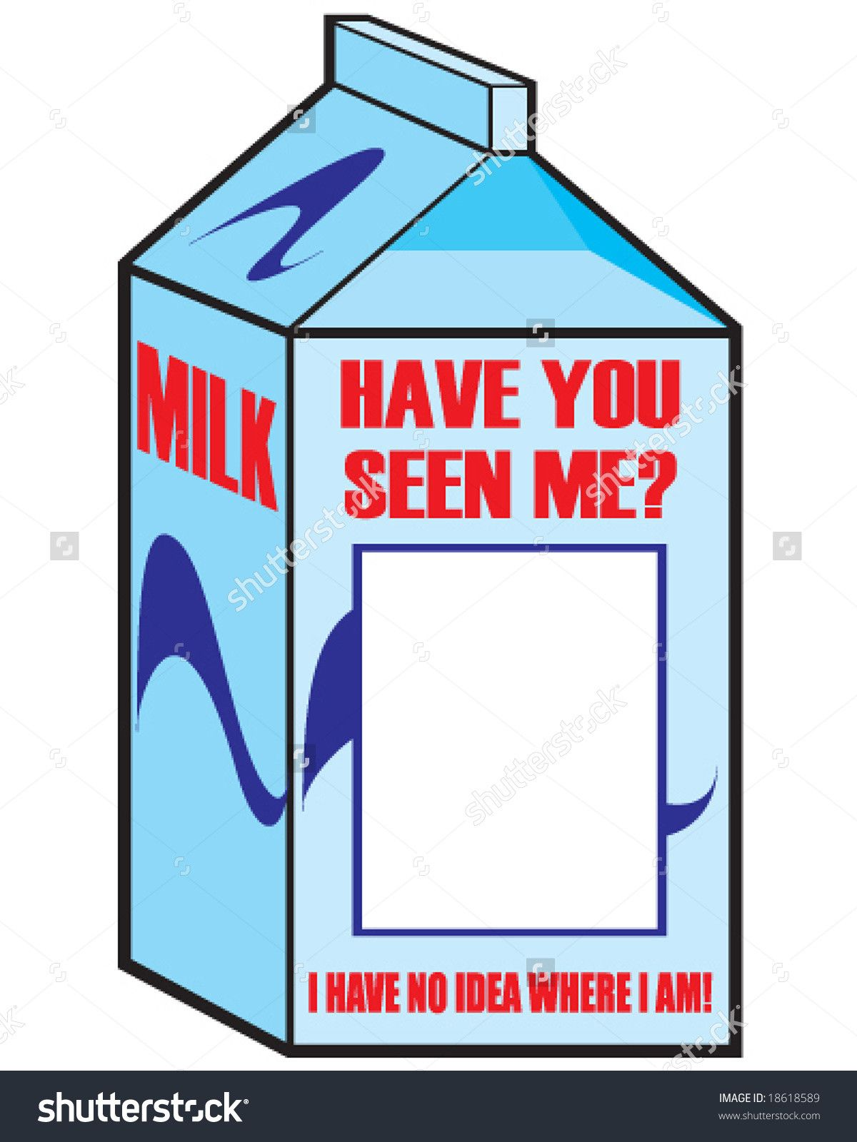 MISSING Milk Missing Person Milk Carton Template Group With...