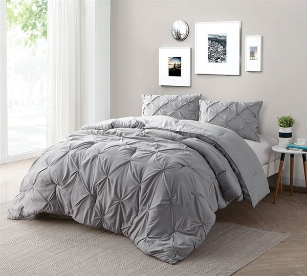 Alloy Pin Tuck Full Comforter Comfortable Bedroom Grey Bedroom With Pop Of Color Comforter Sets