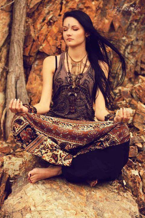 26f63ea95a gypsy spirit girl meditating in the woods