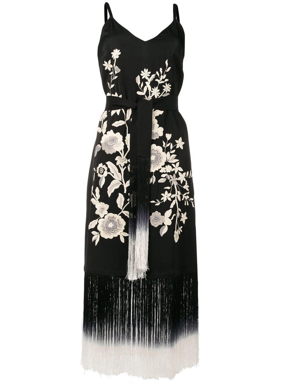 Twin Set fringed midi dress Black | Black midi dress