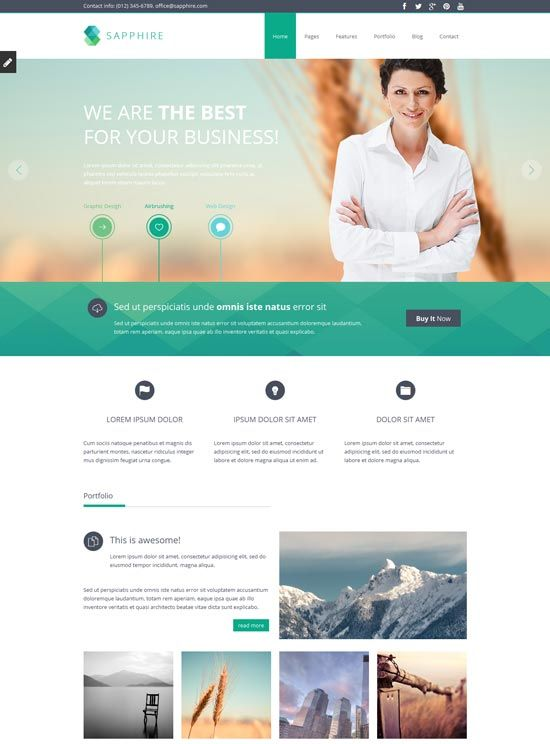 Sapphire responsive business website template website designs sapphire responsive business website template accmission Gallery