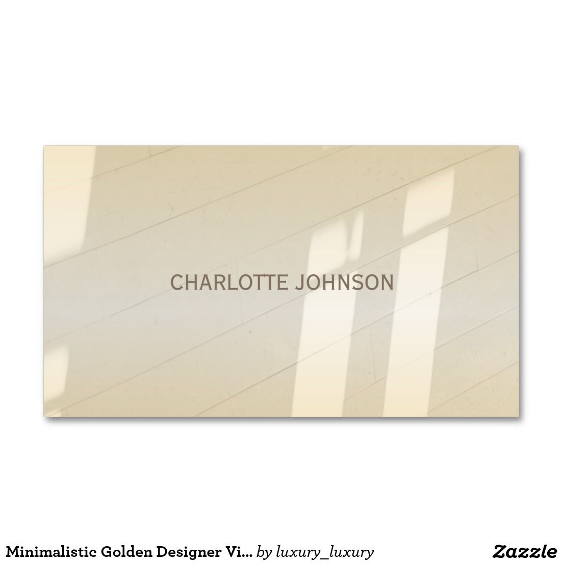 Minimalistic golden designer vip business card reheart Images