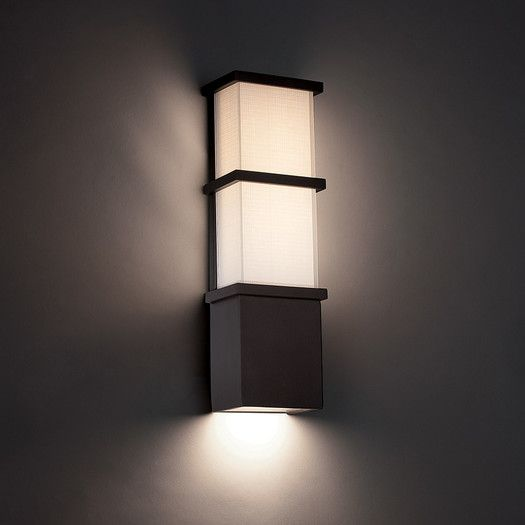 Modern Style Wall Sconces : Modern Forms Elevation 1 Light Indoor/Outdoor LED Wall Sconce contemporary house design ...