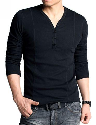 Modern Slim Fitted V-Neck T-shirt For Men Fashion
