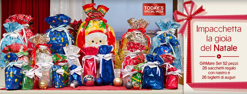 Kringle Express 74 Piece E Z Drawstring Holiday Gift Bag Set On Qvc