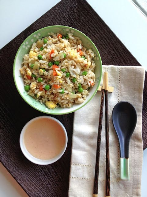 Hibachi style fried rice at home