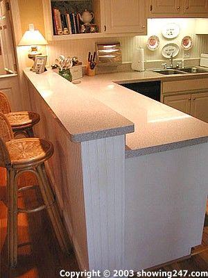 Raising Countertop To Add A Breakfast Bar Ceramic Tile Advice Forums John Bridge