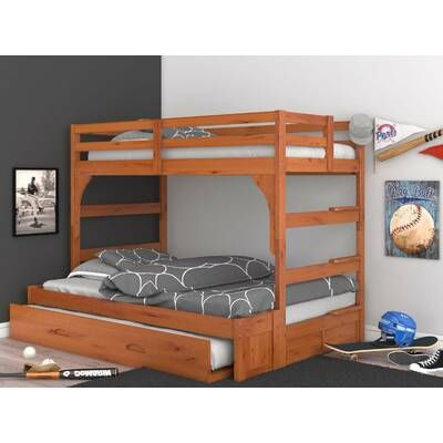 Greyleigh Orval Twin Over Full Bunk Bed With Trundle And Drawers Reviews Wayfair Bunk Bed With Trundle Loft Bed Frame Bunk Beds