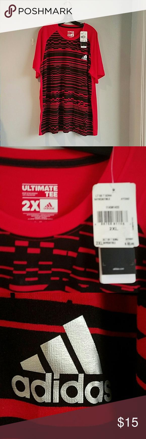 Adidas Ultimate Tshirt Red Shirt Shirt lightweight Tshirt Adidas Shirts Tees - Short Sleeve