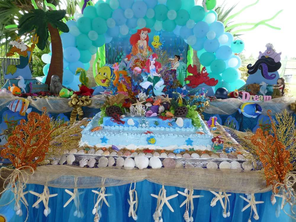 Little mermaid birthday party ideas more mermaid for Ariel decoration party